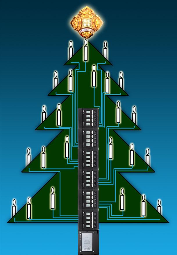 Technische zeichnung weihnachtsbaum
